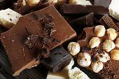 pic of hazelnut  - Set of chocolate with hazelnut - JPG