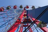 image of ferris-wheel  - the Ferris wheel with space for text - JPG