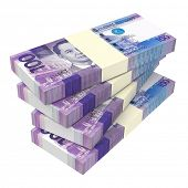 picture of computer-generated  - Philippines money isolated on white background - JPG