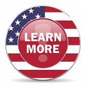 picture of more info  - learn more american icon original modern design for web and mobile app on white background  - JPG