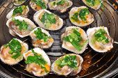 image of pry  - Shell steaks on the grill in restaurant - JPG