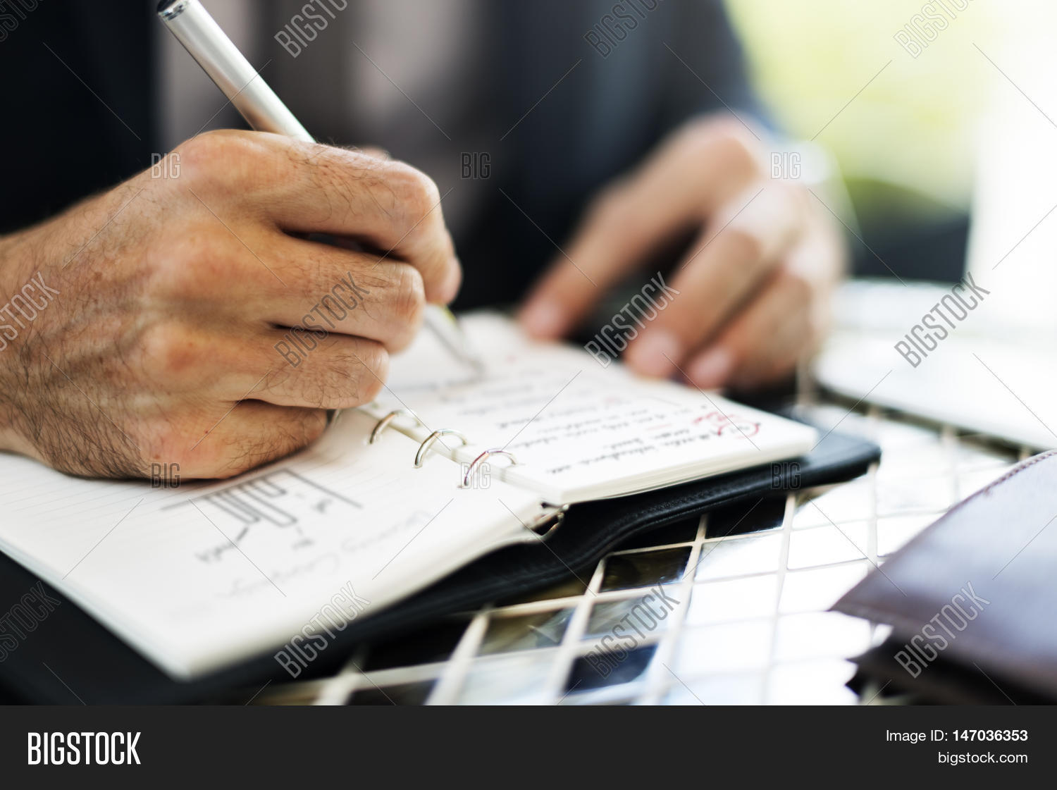 Writing Summary Analytics Information Business Meeting Concept  Stock Photo Writing Summary Analytics Information Business Meeting Concept