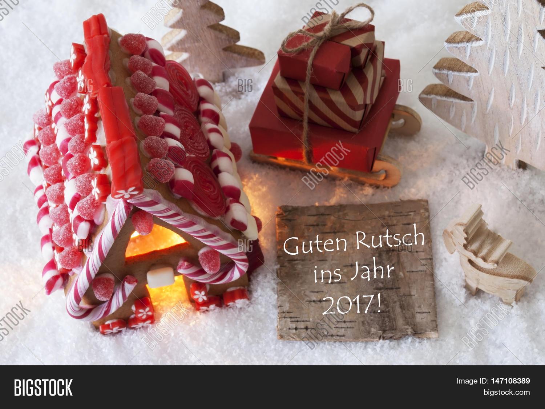 label with german text guten rutsch ins jahr 2017 means happy new