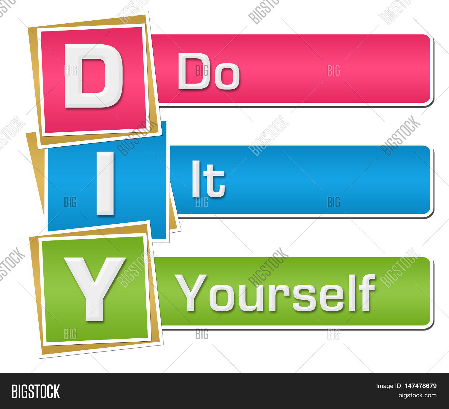 Diy - Do Yourself Text Alphabets Image & Photo | Bigstock