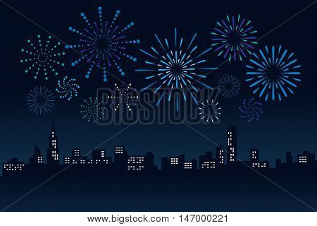 Firework and Cityscape