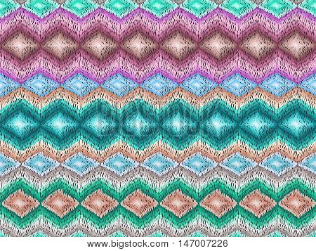 Chevron pattern. Ethnic zig zag ornament. Boho style background. Hippie fashion fabric. Vector seamless texture for web design wrapping paper clothes or interior textile.