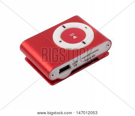 the MP3 players red isolated d d