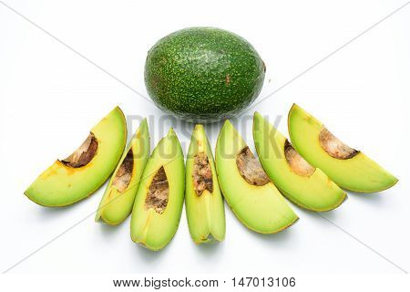 Petals of avocado isolated on a white background.