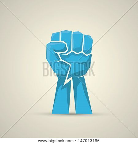 freedom concept. vector fist icon. fist logo