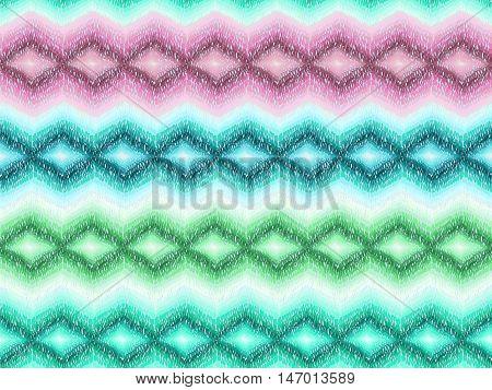 Chevron Pattern Native Boho Fabric Turquoise Purple