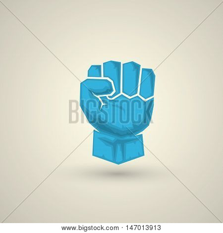 freedom concept. vector fist icon. fist logo