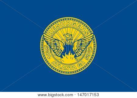 Flag of Atlanta is the capital of Georgia state United States