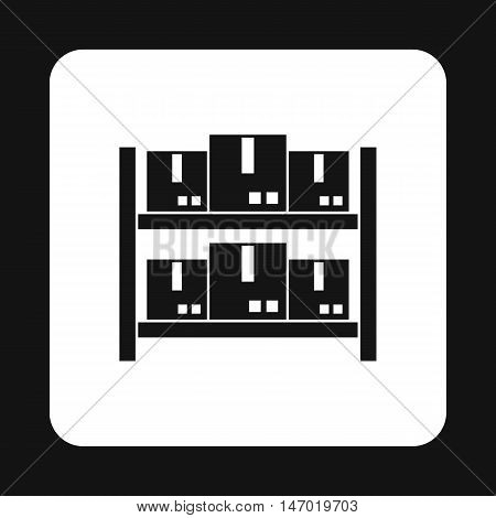 Storage of goods icon in simple style isolated on white background. Warehousing symbol vector illustration