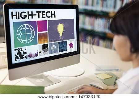 High Tech Technology Searching Browsing Concept