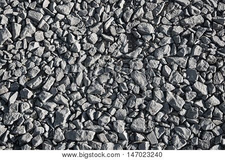 Background made of close-up photo of crushed stone