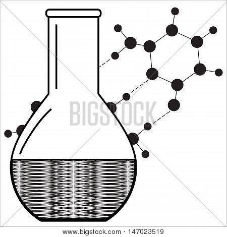 Chemistry formula. Laboratory equipment. Abstract laboratory design. Vector illustration.