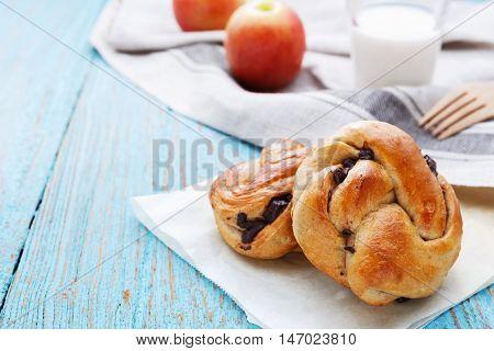 Breakfast On Wood Table