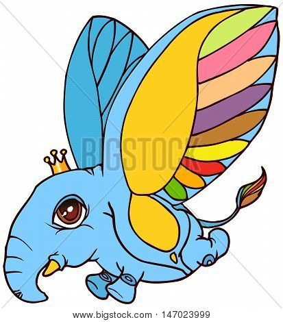 illustration of the cute fantasy creature in another or imagination world in vector