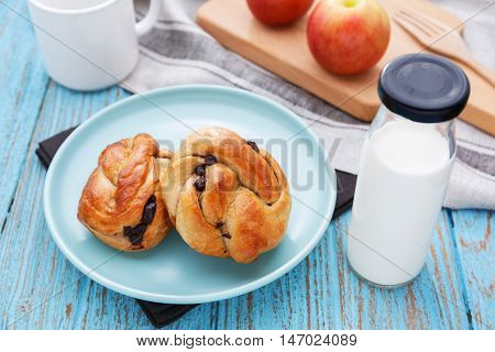 Breakfast With Bread And Milk