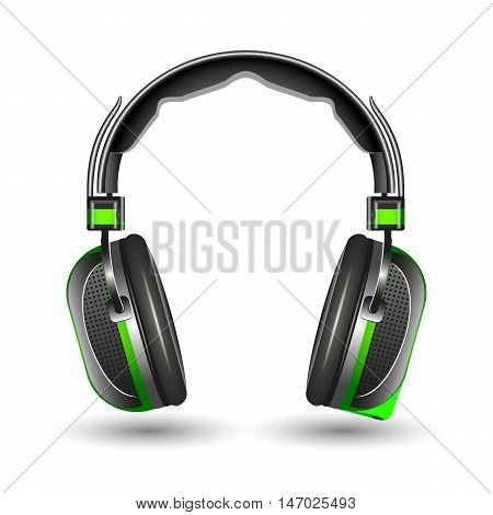 Headphones isolated on a white background vector illustration.