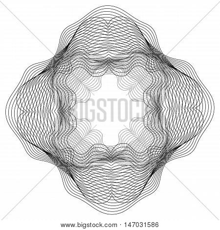 Abstract circular metamorphosis curved lines. Vector background for your creativity