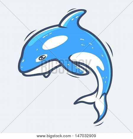 Grampus underwater sea life vector illustration eps9