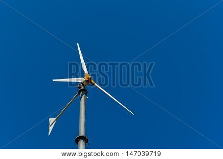 Wind turbine for electric power production. Wind power.