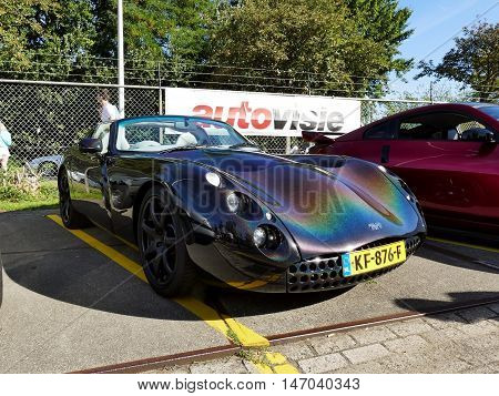 Amsterdam, The Netherlands - September 10, 2016: Multicoloured Tvr Tuscan 2001 On Display During Car