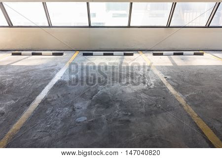 Empty Parking Lot In Car Parking Floor