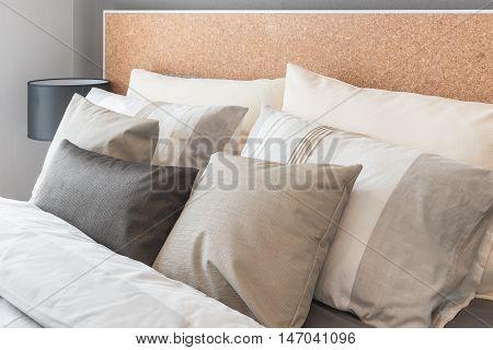 Modern Black Lamp On Table Side In Modern Bedroom