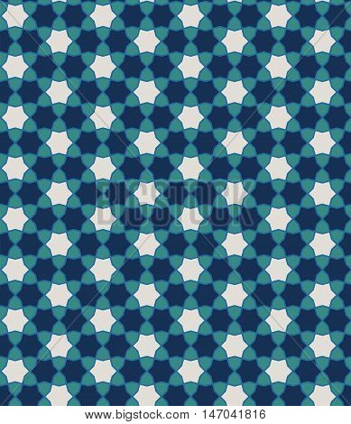 Middle Eastern background. Islamic seamless pattern. Zellige.
