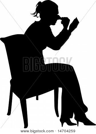 women make up silhouette vector