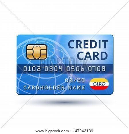 Credit Card. Vector illustration on white background