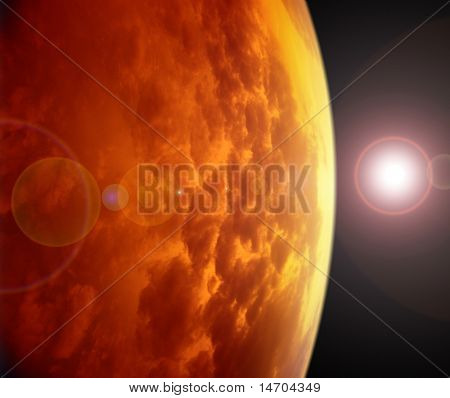 Red Planet In Space.