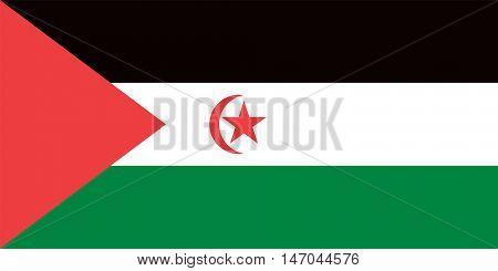 Vector Western Sahara flag