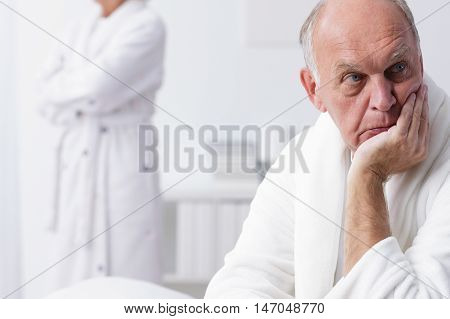 Thoughtful Elderly Man