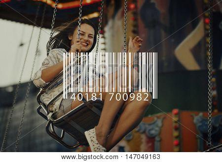 Barcode Digital Scan Merchandise Technology Concept