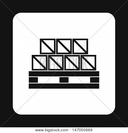 Boxes goods icon in simple style isolated on white background. Warehousing symbol vector illustration
