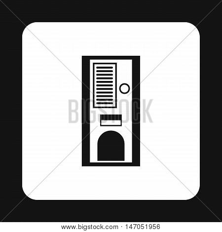 Kitchen cupboard icon in simple style isolated on white background. Furniture symbol vector illustration
