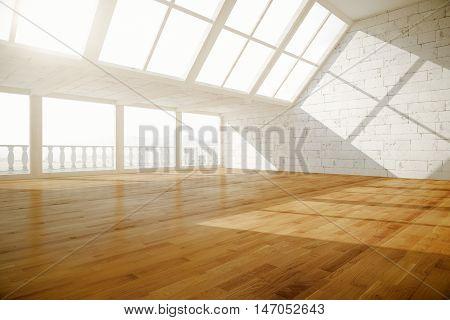 Creative Empty Interior Side