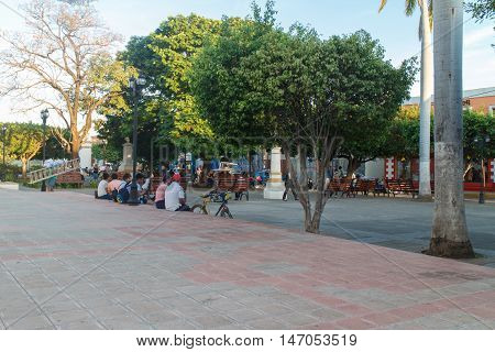 Leon Nicaragua - March 16 2016: street view at afternoon. Travel imagery for Nicaragua