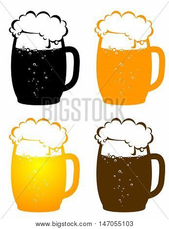 Beer Mugs With Bubbles