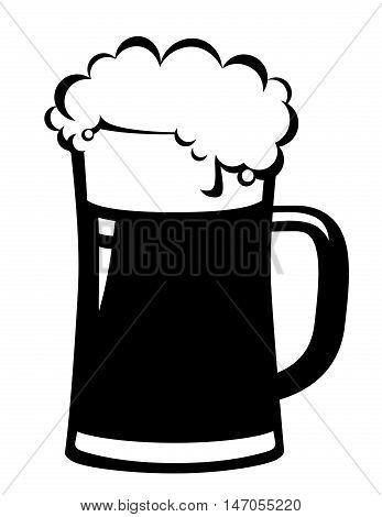 Black Beer Mug