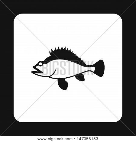 Ruff icon in simple style isolated on white background. Sea creatures symbol vector illustration