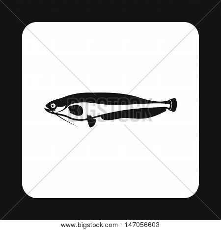 Som icon in simple style isolated on white background. Sea creatures symbol vector illustration