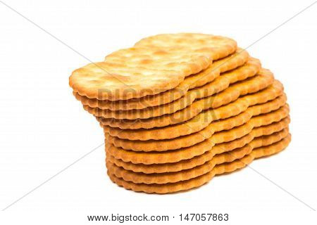 crackers biscuit cookie on a white background