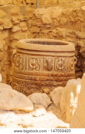 Pithoi, Or Storage Jars, At Knossos Palace, Crete