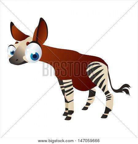 vector cartoon cute animals. Okapi