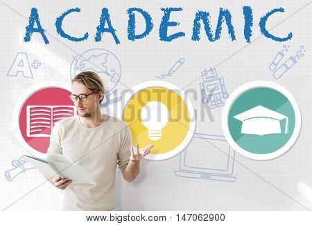 Academic Knowledge Literacy Wisdom Education Concept
