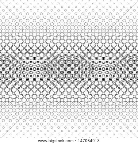 Repeating black and white abstract circle pattern background